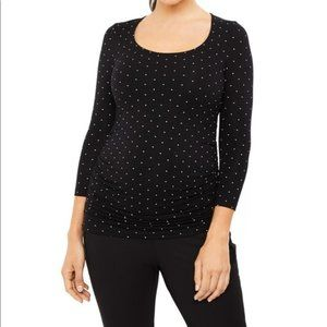 Pea in the Pod Fitted 3/4 Length Sleeve Tee Medium